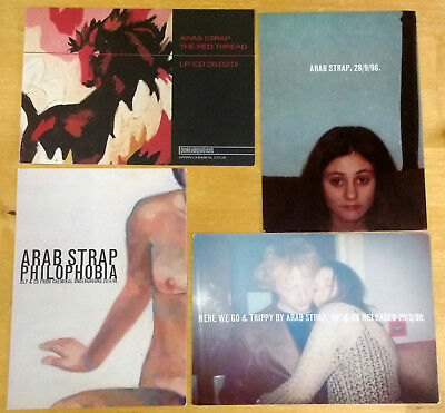 ARAB STRAP - Set of 4 Promo Postcards / Flyers - Chemikal Underground - RARE!
