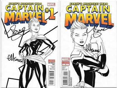 Captain Marvel (2012) #1-2 Variant Signed By Kelly Sue Deconnick & Ed Mcguinness