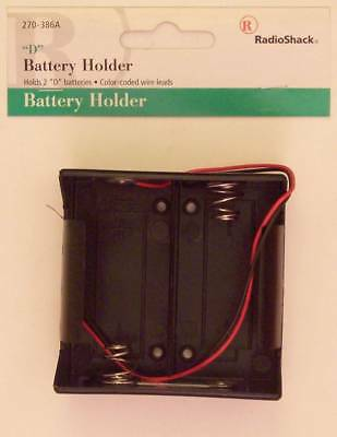 RadioShack 2 D Cell Battery Holder with Wire Leads