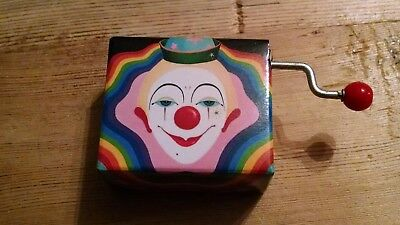 "Mini Tiny Clown Music Box ""SEND IN THE CLOWN"" made in Japan"