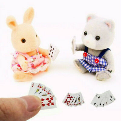 Cute Doll House Mini Poker Miniature Poker Mini 1:12 Dollhouse Playing Cards