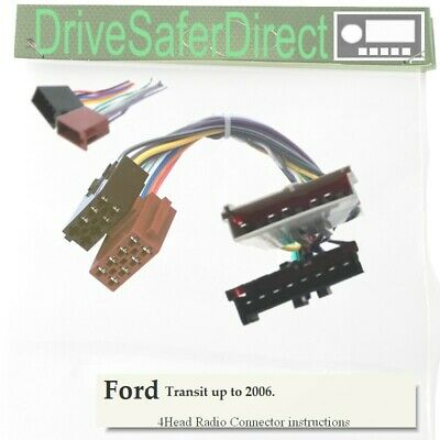 4-Head-2080-72J Radio Cable,ISO-JOIN for Xtrons Head Unit/Ford Transit up to 06