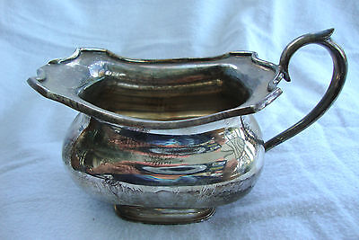A Vintage Antique Silver Plated Epns A1 Fc&co. Lovely Creamer /  Milk Jug