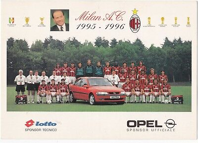 Calcio/football Cartolina MILAN 1995-'96 con BAGGIO originale