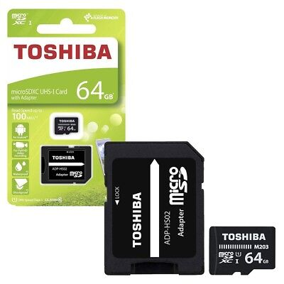 64GB Toshiba M203 Micro SDXC UHS-I U1 Memory Card with SD Card Adapter 64GB