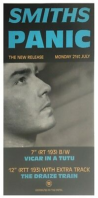 The Smiths 1988 Panic UK Rough Trade Promotional Poster