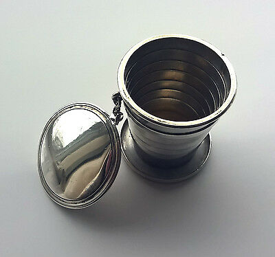 A Superb Solid Silver Sampson Mordan Telescopic Cup (London 1896) Mappin Bros