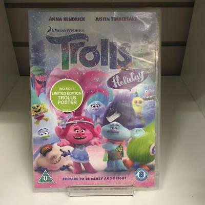 Trolls Holiday DVD - New and Sealed Fast and Free Delivery