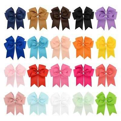 """20 Pcs/Lot Grosgrain 6"""" Inch Alligator Hair Bow Clips for Baby Girl Toddlers"""