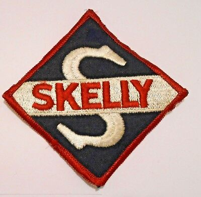 """Skelly Gasoline Patch Embroidered Oil 4-1/8"""" across  oil"""
