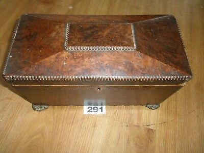 Antique Wooden Tea Caddy Box For Total Restoration