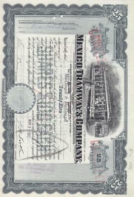 1955, Mexico Tramways Co., Punch Cancel  (S13277)