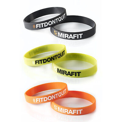 Mirafit x2 Silicone Wristband Unisex Fit Dont Quit Fitness Gym Bracelet Bands