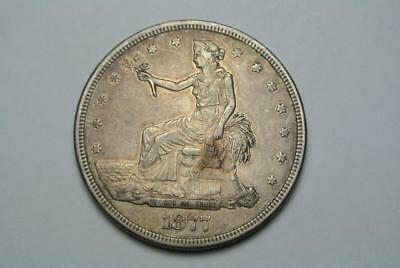Extra Fine+ 1877-S Trade Dollar, XF+ Condition - C5594