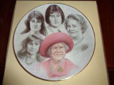 British Classical Heritage Newmarket England Collectors Plate THE QUEEN MOTHER