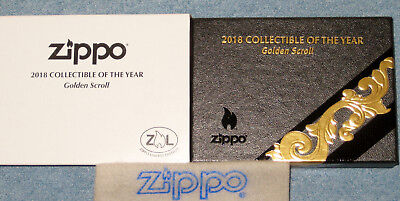 ZIPPO GOLDEN SCROLL  Lighter ARMOR 2018  COLLECTIBLE of the YEAR Limited COTY