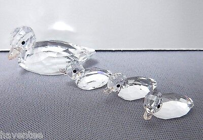 Ducks (Set Of 4) Mother And Three Ducklings Crystal 2013 Swarovski    5004695