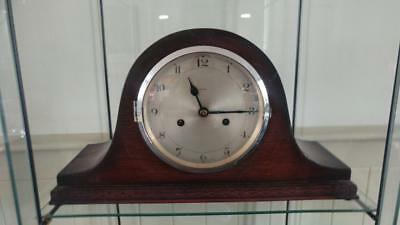 Handsome Art Deco Enfield Napoleon Chiming Oak Mantle Clock C 1929+