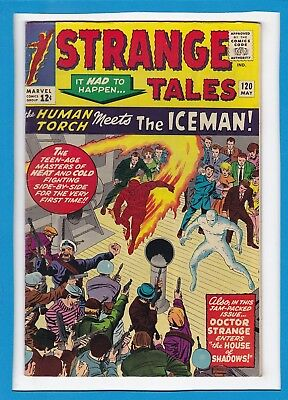 STRANGE TALES #120_MAY 1964_VG/F_X-MEN_FF_ICEMAN_1st APP CAPTAIN BARRACUDA!
