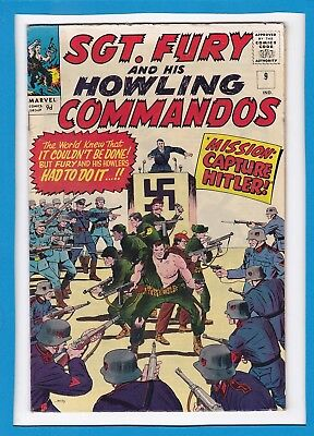 Sgt Fury & His Howling Commandos #9_August 1964_Fine/very Fine_Hitler_Uk!