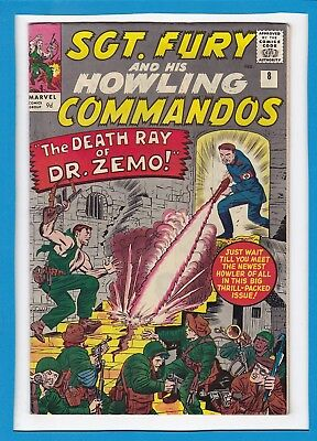 Sgt Fury & His Howling Commandos #8_July 1964_Very Fine_Dr. Zemo_Jack Kirby_Uk!