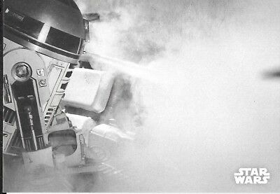 2018 Topps Star Wars Black & White A New Hope #117 Extinguishing the Flames