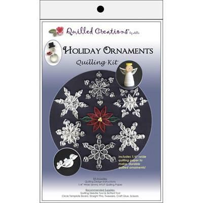 Paper Quilling Kit HOLIDAY ORNAMENTS Christmas Snowflakes Quilled Creations
