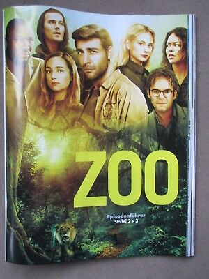 Cast-Poster Zoo (2018) Staffel 2 + 3 (James Wolk, Billy Burke, Nonso Anozie)