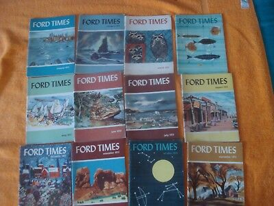 12 Issues Ford Times 1951 Complete Year January - December Good condition