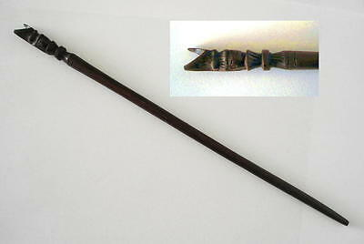 OWL MAGIC WOODEN WAND 250 mm - Wicca Pagan Witch Goth