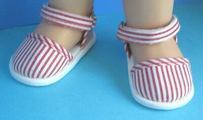 Cute SANDALS for 13 in. Galoob Baby Face Dolls - red & white - New in package