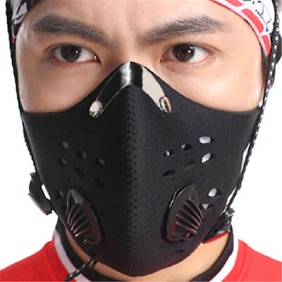 Bike Bicycle Riding Mask Gas Filter Protection Face Head Respirator Anti-Dust .U