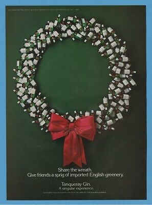 1985 Christmas Theme Bottle Share The Wreath Dewars White Label Photo Ad