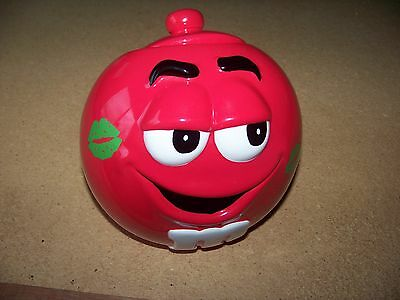 M&Ms red porcelain cookie jar canister M & Ms