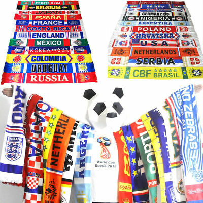 2018 Russia World Cup Soccer Nation 33 Team Scarf Football Fans Support Scarves