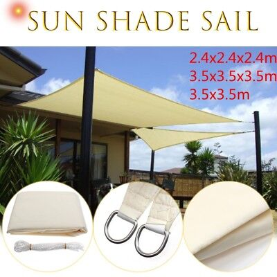 Sun Shade Triangle/Square Sail Water Canopy Patio Awning Garden UV Block