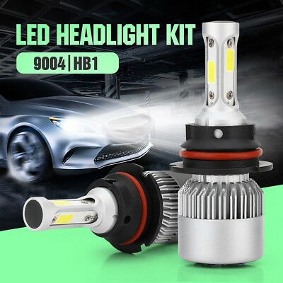 9004 HB1 LED Headlight Kit 72W 16000LM Hi-Low Beam 6500K Car Light Bulbs White