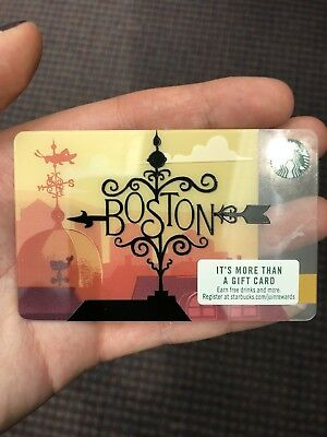 NEW 2018 Boston Starbucks Gift Card No $$$ Value