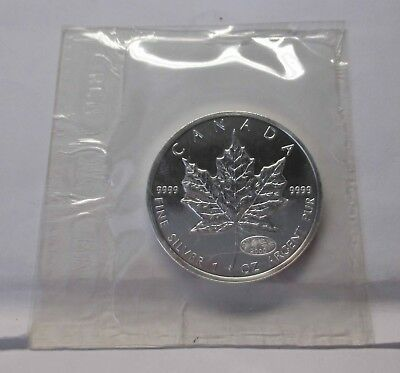 "Kanada 2000,"" 5 Dollar, Maple Leaf Privy Mark, Millennium"" Si"