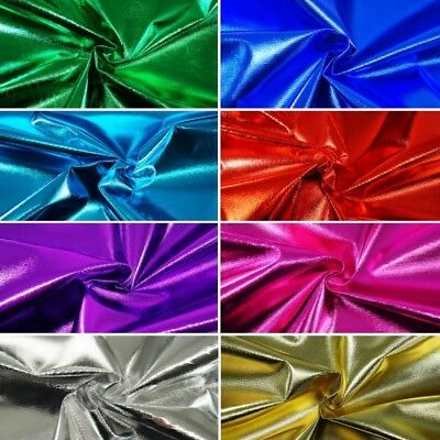 Tricot Lame Metallic Foil 100% Polyester Fabric Costume Dancewear Material