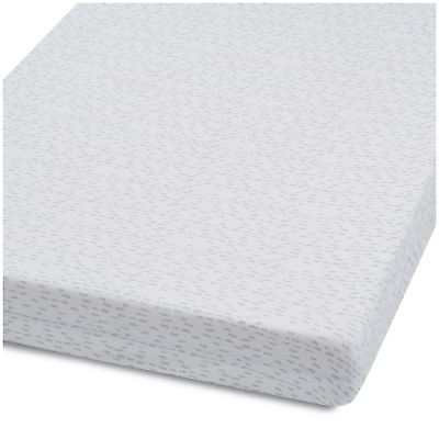 Snuz COT & COT BED FITTED SHEET – WAVE MONO DASH Nursery Cot Bedding BN
