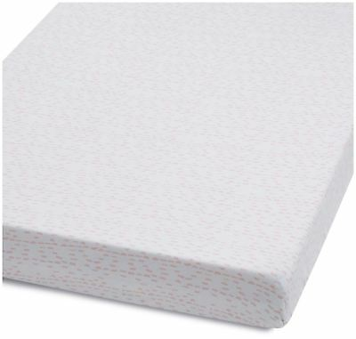 Snuz COT & COT BED FITTED SHEET – WAVE ROSE DASH Nursery Cot Bedding BN