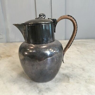 Antique small silver plated coffee pot or lidded jug