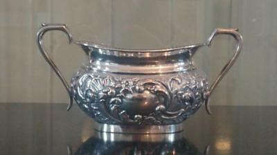 Antique Silver Plated Rococo Two Handled Sugar Bowl by Daniel, George Collins
