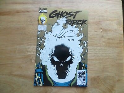 1991 Marvel Ghost Rider #15A Glow In The Dark Signed Mark 'tex' Texeira Art, Poa