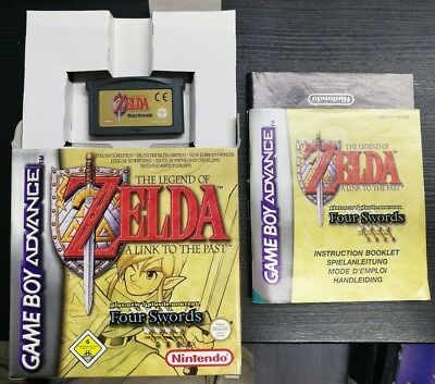 The Legend of Zelda a Link to the Past - Four Sords Game Boy Advance con SCATOLA