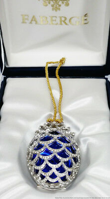 Tatiana Faberge Signed Imperial Collection Pine Cone Miniature Egg Ornament Box