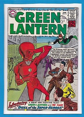 """Green Lantern #13_June 1962 Fine_Flash X-Over_""""duel Of The Super-Heroes""""!"""