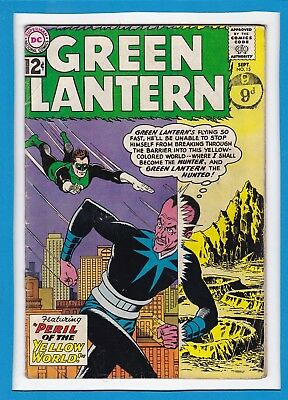 """Green Lantern #15_Sept 1962 Very Good+_""""peril Of The Yellow World""""_Silver Age!"""