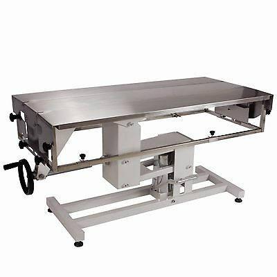 Veterinary Surgical Operating Table FT-826 Manual Lift Adjustable Width V-Top